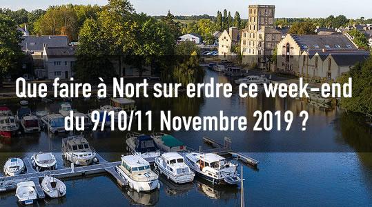 Que faire à Nort sur erdre ce week-end du 9/10/11 Novembre 2019 ? 1 nort nov 9101119
