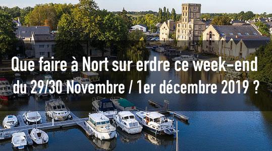 Que faire à Nort sur erdre ce week-end du 29/30 Novembre / 1er décembre 2019 ? 8 sortir agenda nort