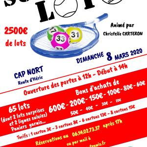 Super Loto du Nac tennis animé par Christelle 106 affiche finale