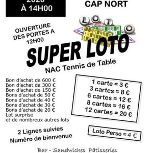 LOTO 10 super loto du nac tennis table Nort sur Erdre 44 l 4370396