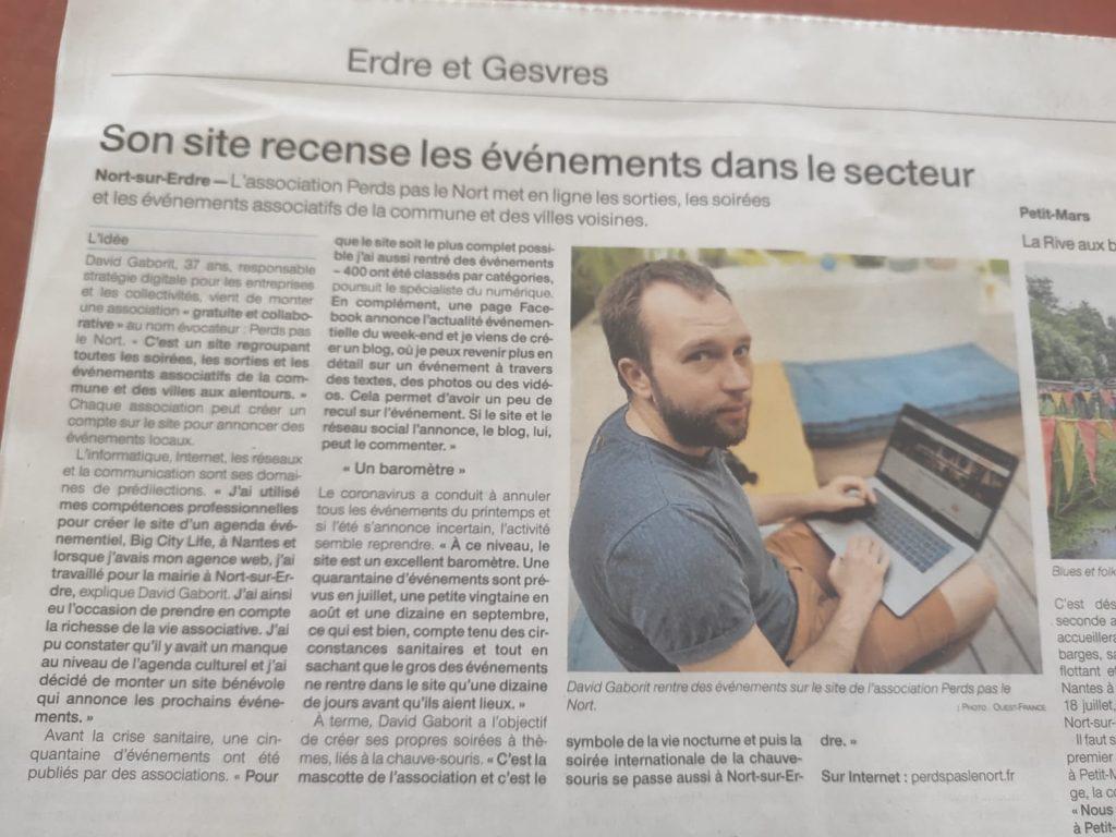 Perdspaslenort dans Ouest France 2 perdspaslenort