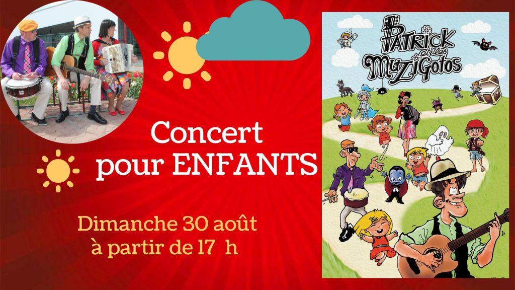 """Concert ENFANT """"Patrick et les Muzigotos"""" 9 Muzigotos nort sur erdre"""