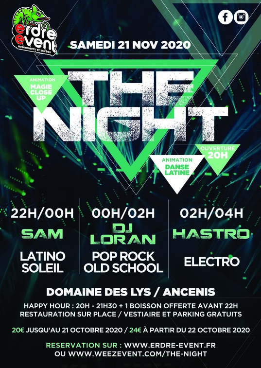 [Reporté en 2021] THE NIGHT by ERDRE EVENT 9 the night